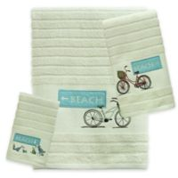 Bacova Beach Cruiser Fingertip Towel in Blue/Ivory