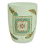 Bacova Southwest Boots Wastebasket in Blue/Green