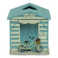 Bacova Beach Cruiser Boutique Tissue Box Cover in Blue/Ivory