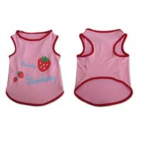 Pretty Pet X-Large Strawberry Pet Tank Top in Pink