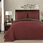 Brielle Honeycomb Reversible Full/Queen Quilt Set in Red/Grey
