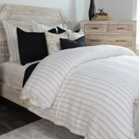 Villa Home Monaco King Duvet Cover in Ivory/Charcoal