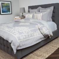 Villa Home Patrina Queen Duvet Cover in Grey/Ivory