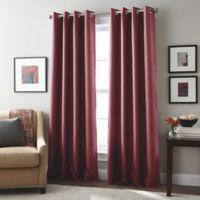 London 108-Inch Grommet Top Window Curtain Panel in Berry