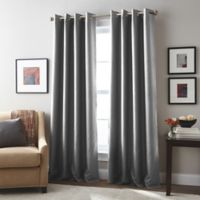 London 108-Inch Grommet Top Window Curtain Panel in Charcoal