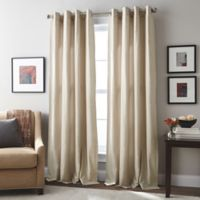 London 108-Inch Grommet Top Window Curtain Panel in Linen