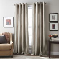 London 63-Inch Grommet Top Window Curtain Panel in Mushroom
