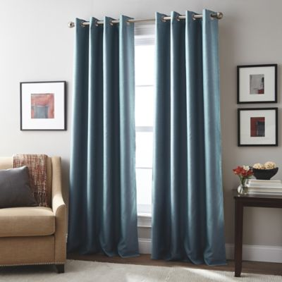 london 63inch grommet top window curtain panel in teal