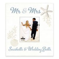 "Malden® ""Seashells & Wedding Bells"" 8-Inch x 10-Inch Picture Frame"