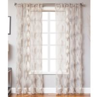Petra 63-Inch Rod Pocket Sheer Window Curtain Panel in Grey