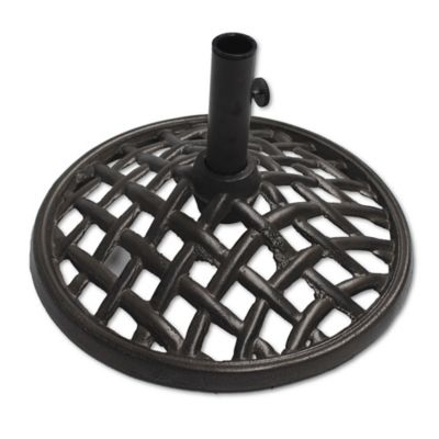 agio maddox cast iron umbrella base in grey