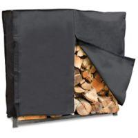 UniFlame® 4-Foot Outdoor Log Rack Cover in Black