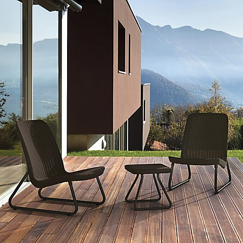 Keter Rio 3 Piece Patio Set In Brown Bed Bath Amp Beyond
