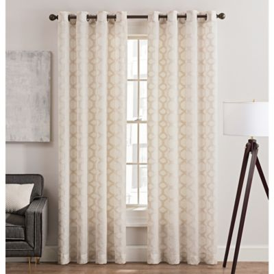 Rankin 63 Inch Grommet Top Sheer Window Curtain Panel