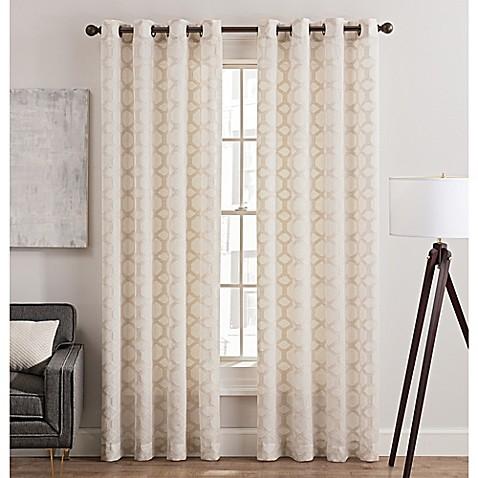 Rankin Grommet Top Sheer Window Curtain Panel Bed Bath Beyond