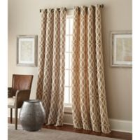 Hewlett 95-Inch Grommet Window Curtain Panel in Taupe