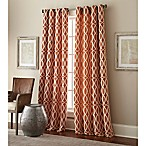 Hewlett 84-Inch Grommet Window Curtain Panel in Rust