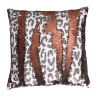Cenny Cheetah Reversible Sequin Pillow from Thro by Marlo Lorenz