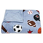 Sports Printed Microplush Throw from Thro by Marlo Lorenz in Blue