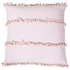 Thro Petrina Pom-Pom Pillow in Rose Smoke