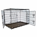 30-Inch Foldable Double Door Pet Crate with Divider