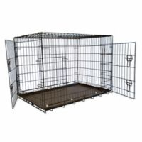 42-Inch Foldable Double Door Pet Crate with Divider
