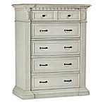 Kingsley Venetian 5-Drawer Dresser in Antique White