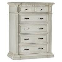 Kingsley Venetian 5-Drawer Dresser in Antique White