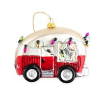 Camper Christmas Ornament in Red/White (Set of 6)