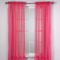 Calypso 63 Inch Window Curtain Panel In Pink