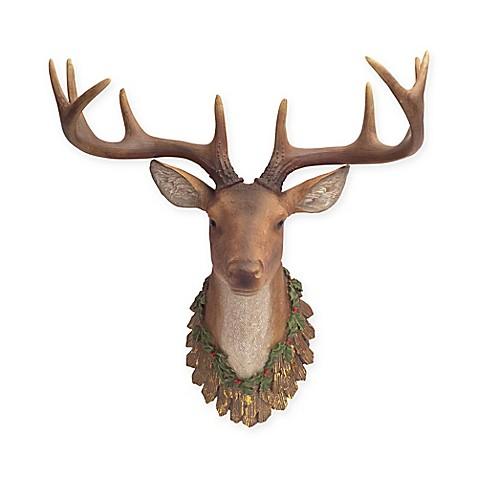 Wall Mounted Deer Head Christmas D Cor Bed Bath Beyond