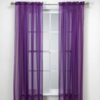 Calypso 63-Inch Window Curtain Panel in Purple