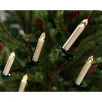 Taper Candle Battery-Operated Clip-On Christmas Tree Lights with Remote (Set of 12)