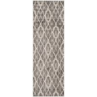 Safavieh Amherst Bridge Indoor/Outdoor 2-Foot 3-Inch x 11-Foot Area Rug in Grey