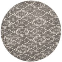 Safavieh Amherst Bridge Indoor/Outdoor 5-Foot x 5-Foot Area Rug in Grey