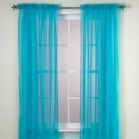 Calypso 63-Inch Window Curtain Panel in Sky