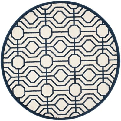 Safavieh Amherst Abstract Indoor/Outdoor7 Foot X 7 Foot Area Rug In Ivory