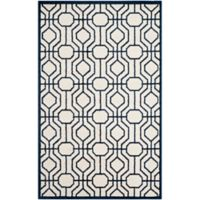 Safavieh Amherst Abstract Indoor/Outdoor6-Foot x 9-Foot Area Rug in Ivory