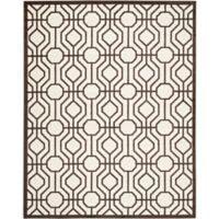 Safavieh Amherst Abstract Indoor/Outdoor8-Foot x 10-Foot Area Rug in Ivory