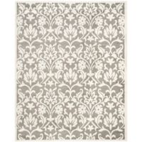 Safavieh Amherst Flora Indoor/Outdoor 9-Foot x 12-Foot Area Rug in Dark Grey