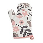 ZICZAC Floral Cotton Oven Mitts in Soft Pink (Set of 2)