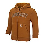 Carhartt® Size 3M Logo Fleece Zip-Front Hoodie in Brown