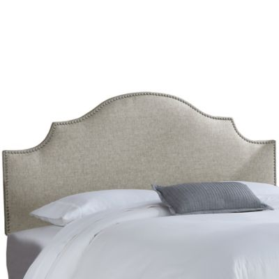 improvement home arched king headboard button tufted california
