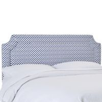 Skyline Furniture Winfield Notched Twin Headboard in Sahara Midnight White Flax