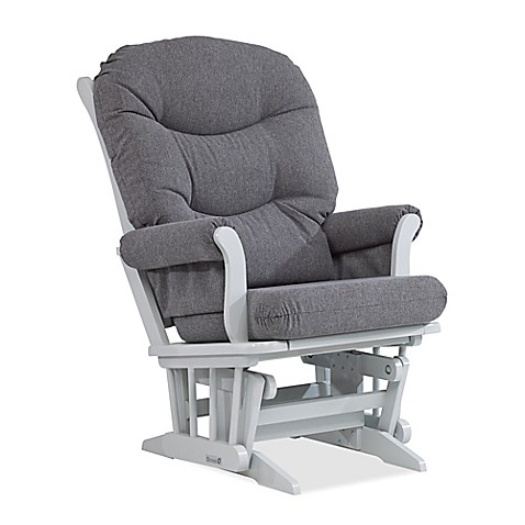 Dutailier 174 Sleigh Glider In Grey Charcoal Bed Bath Amp Beyond