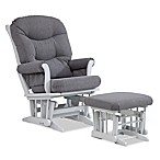 Dutailier® Sleigh Glider and Ottoman in Grey/Charcoal
