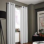 Kenneth Cole Reaction Home Bowery 84-Inch Texture Lined Grommet Window Curtain Panel in White