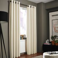 Kenneth Cole Reaction Home Bowery 108-Inch Texture Lined Grommet Window Curtain Panel in Chalk