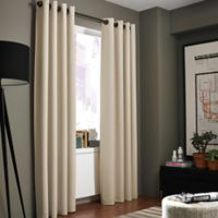 Kenneth Cole Reaction Home Bowery 108-Inch Texture Lined Grommet Window Curtain Panel in Hemp