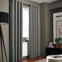 Kenneth Cole Reaction Home Bowery 108-Inch Texture Lined Grommet Window Curtain Panel in Graphite